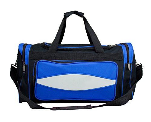 Crown Sporting Goods 20-Inch Blue 600 HD Tuff Cloth Canvas Duffle Bag (Medium)