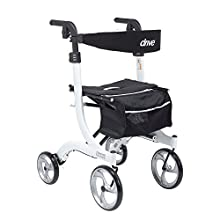 Drive Medical RTL10266WT-T Nitro Euro Style Walker Rollator, Tall, White