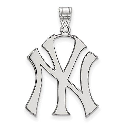 Q Gold MLB New York Yankees 10kw MLB LogoArt New York Yankees XL Pendant Size One ()