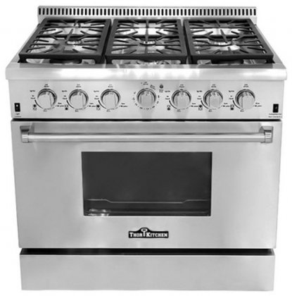Thor Kitchen HRG3618U 36 6 Burner Stainless Steel Gas Range