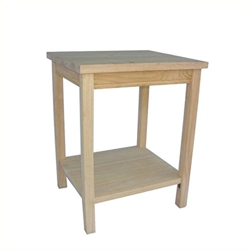 Unfinished Wood End Table (International Concepts OT041 Accent Table, Unfinished)