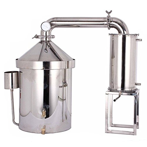 32 L /8 Gallon Household Alcohol Distiller Moonshine Still Spirits Ethanol Stainless Steel Boiler Water Distiller Wine Making Kit by WMN_TRULYSTEP