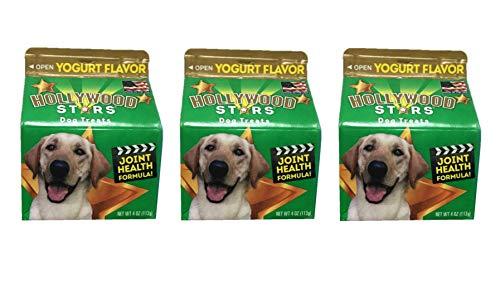 - Hollywood Stars Dog Treats Yogurt Flavor, Bundle of 3 Packs, 4 oz Each