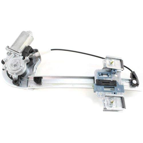 Rear Window Regulator Compatible with PONTIAC BONNEVILLE 2000-2005 LH Power with Motor