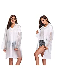 liwang 2PACK Transparent EVA Raincoat Reusable Awning Environmentally Friendly Poncho