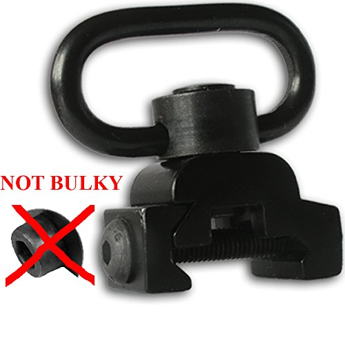 1PCS QD Sling mount Point Quick Detach Rifle Swivel Adapter Attachment Picatinny/Weaver Rail flip mount End Plate With Release Flush Push Button (Ar15 To 22 Conversion Kit)