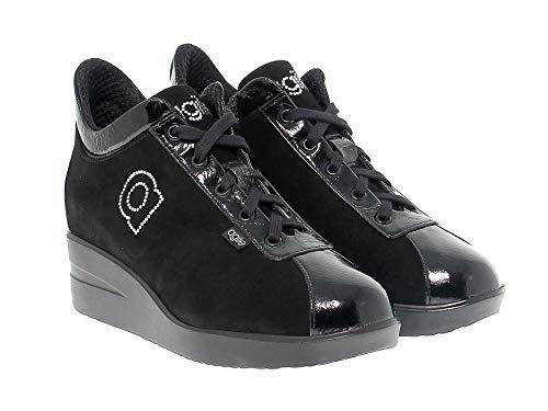 Ruco Mujer Ruco226cn Line Zapatillas Negro Gamuza 4r54Zvpq