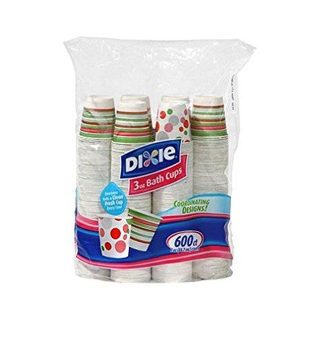 3 Ounce Dixie Cups - Dixie - Bath Cup, 3 oz. - 600 Cups