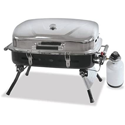 Superbe Blue Rhino Outdoor LP Gas Grill, Stainless Steel
