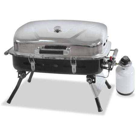 Blue Rhino Outdoor Portable Lp Gas Grill With Warming Rack And Carry  Handle, Porcelain Grid