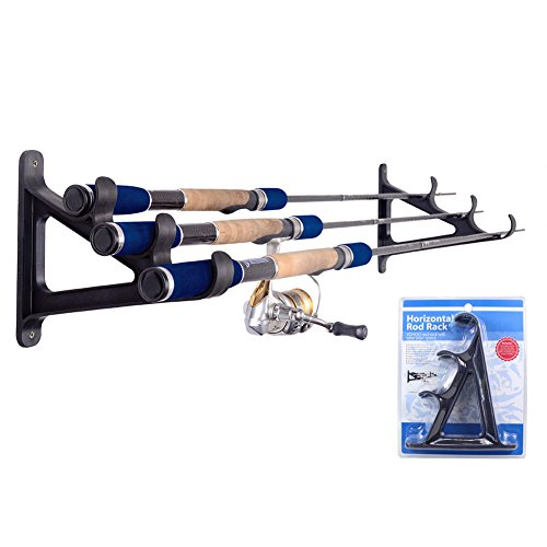 Croch Horizontal Wall Fishing Rod Rack for Fishing Rod Storage - 2 set ()