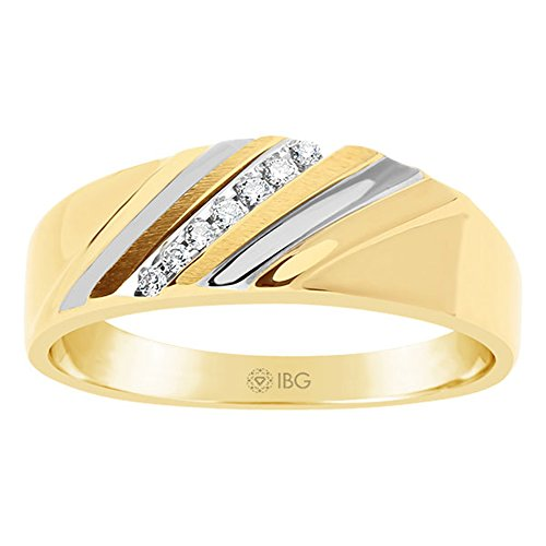 10k Yellow Gold Diamond Band (13) (In Gold Diamond Rings)