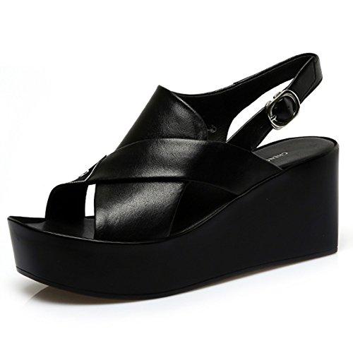 los Aumentado opcional sandalias Sandalias los Zapatos de B femenino verano las Cómodo arena 2 con sandalias de Pendiente del opcionales la colores de planos pescados gruesas tamaño zapatos las de 8nwxpUf7q
