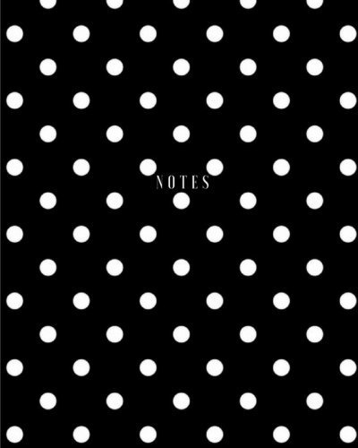 Notes - White Polka Dot Daily Journal / Notebook: (8 x 10) Writing Journal, 100 Pages, Smooth Glossy - Polka Journal Dot