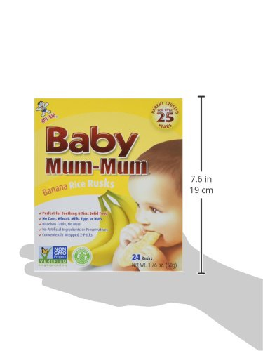 Baby Mum-Mum Variety Pack of 3 Original Banana and Vegetable 1.76 Oz each by Hot Kid (Image #5)