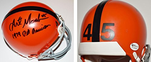 Art Monk Signed - Autographed Syracuse Orangemen Mini Helmet with Inscription - Guaranteed to pass BAS - Beckett Authentication ()