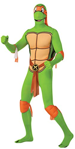 Teenage Mutant Ninja Turtle Michelangelo 2nd Skin - Adult Costume Men : X LARGE