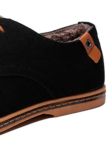 Oxford Leather Winter Black up Shoes Fashion Classic 2018 Casual Mixed Genuine Lace Urban nWXnFa7