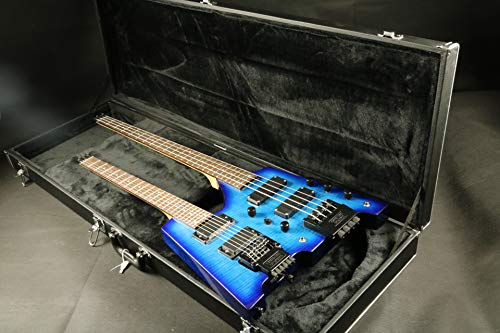 Neck Bass Guitars Double (Exporting factory made quality Starshine double headless neck bass electric guitar wraparound bridge set in neck mahogany body)