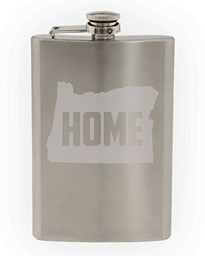 State of Oregon Home State Etched 8oz Stainless Steel - Salem Oregon Glasses
