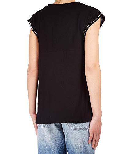 Negro Algodon shirt Lpjbr011001 T Mujer Kaos RYqfxEw