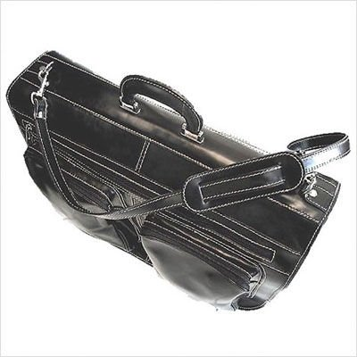 Floto Luggage Venezia Garment Bag Carry On, Black, Large