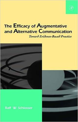 Book The Efficacy of Augmentative and Alternative Communication: Toward Evidence-Based Practice (Augmentative and Alternative Communications Perspectives)