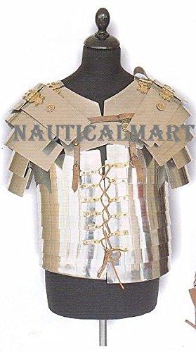 - NAUTICALMART Roman Soldier Military Lorica Segmentata Body Armor 18g Steel