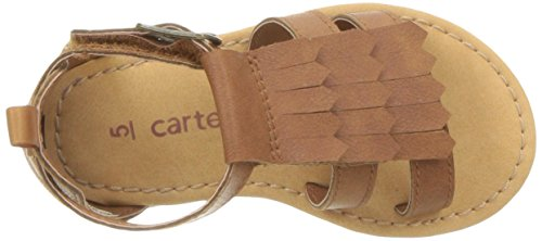 Carter's Girls' Chary Fashion Sandal, Brown, 9 M US Toddler by Carter's (Image #8)