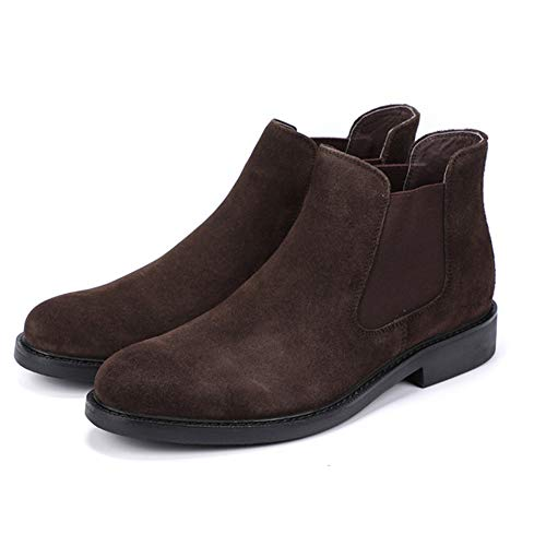 Brown Uomo Boots Autunno Help Formale Brogue Pelle High in Boots Martin Classico Boots Chelsea Business Desert Booties Work g8a5nqTxw