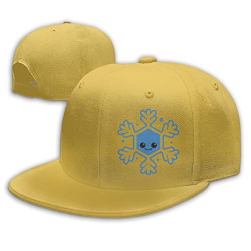 TYMOFII80 Baseball Cap Kawaii Winter Snowflake Unisex Adjustable Flat Vintage Sports Hat Snapback Hip-Hop Cap