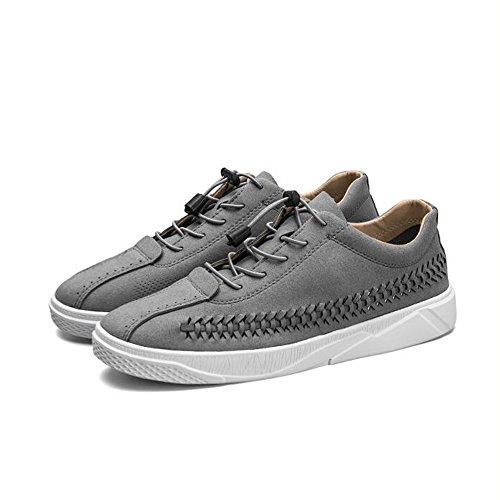 Mode UK8 5 Grau Farbe Persönlichkeit Größe Schuhe CN43 3 Herrenschuhe EU42 Breathable und Plate Herbst Farben Feifei Frühling w7WUIWqZa