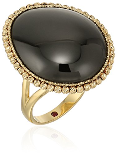 Roberto Coin Pebble Yellow and Black Satin Ring, Size 6.5 Roberto Coin 18k Ring