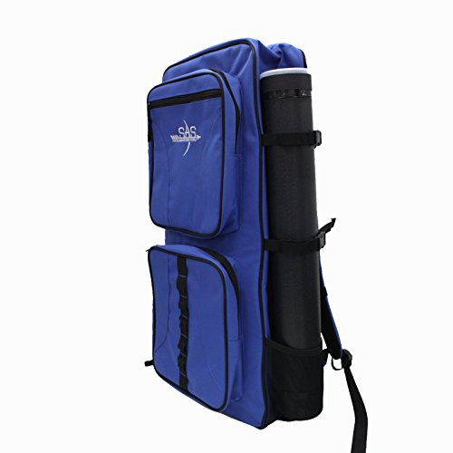 SAS Archery Recurve Takedown Bow Backpack with Arrow Tube (Blue)