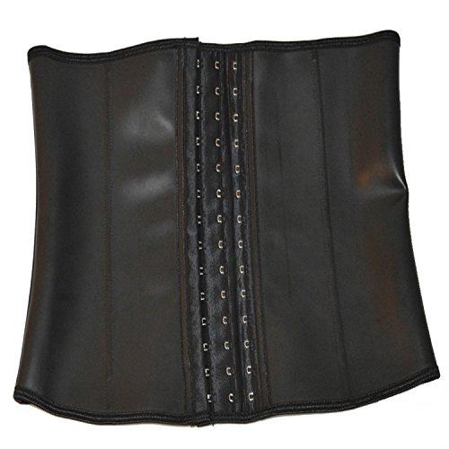5d8be480e2c queenral Male Steel Boned Male Slim Belt Latex Waist Trainer Corsets
