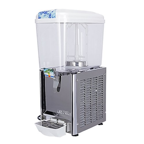 KUPPET Commercial Beverage/Juice/Drink Dispenser For Cold & Hot Drink, 4.75 Gallon 1 Tank, Restaurant Buffet Food Service Catering Beverage Dispensers, Cold 180W Hot - Food Dispenser Service Beverage