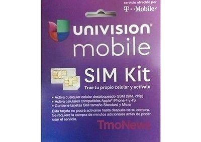 Amazon.com: Univision Mobile Nano sim $55 Included Plan Talk ...