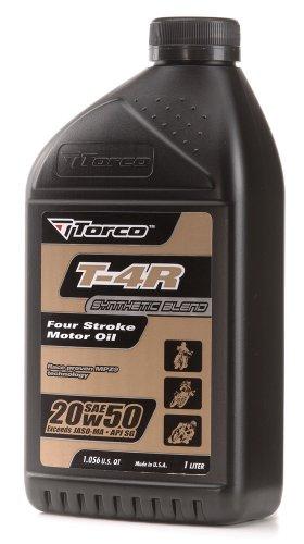 Torco T612050CE T-4 20w50 4-Stroke Motor Oil Bottle - 1 Liter Bottle