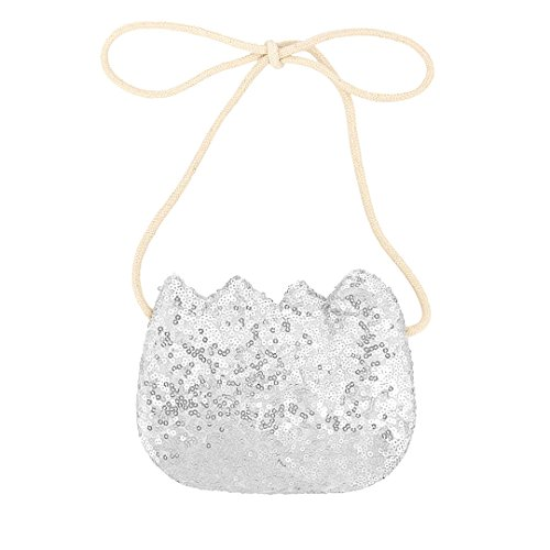Child Silver Coin (Hermora Mini Sequin Crossbody Purse Small Coin Holder for Toddle kids(Silver))