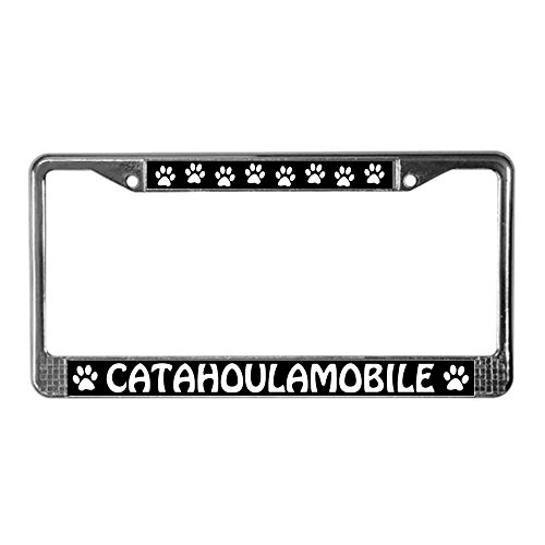 CafePress Catahoula Leopard Dog Chrome License Plate Frame, License Tag Holder