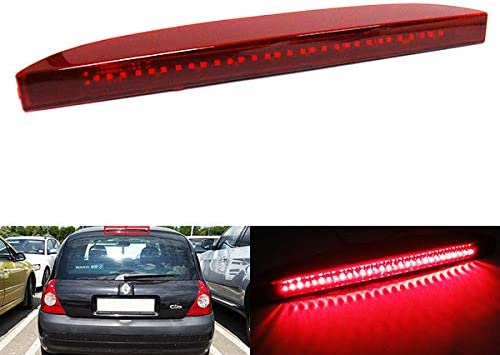 Red Lens LED Rear High Level Centre Third Brake Stop Light For 1998-2012 Clio MK II Campus