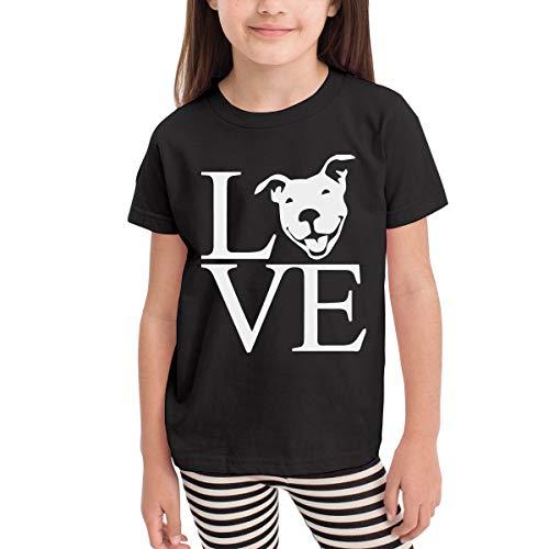 - Short-Sleeve Love Pit Bull Shirts for Kids, Cute Sweatshirt, 2-6T Black