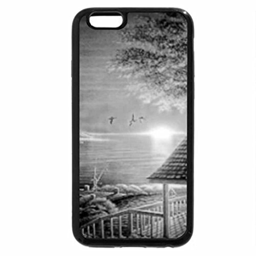 iPhone 6S Plus Case, iPhone 6 Plus Case (Black & White) - Lovely Landscape