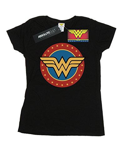 new style c3fe4 a41b1 Comics Circle Negro Logo Camiseta Mujer Dc Woman Wonder dwx4