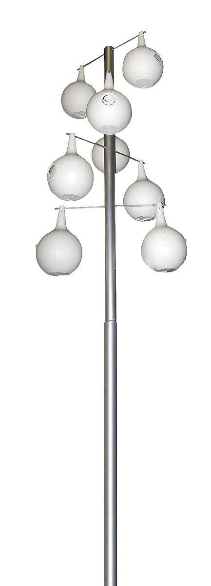 Heath Outdoor Products 30208 19-Foot Heavy Duty Aluminum Pole Kit 8-Piece Spiral