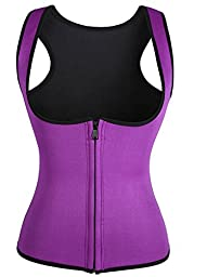 Waist Trainer Neoprene,BRABIC Thermo Corset Promotes Sweating During Exercise (M, PURPLE)