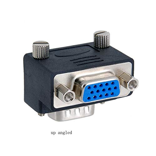CY VGA SVGA Male to Female Extension Adapter for Monitor & Projector Up Angled 90 Degree Down Angled 270 Degree