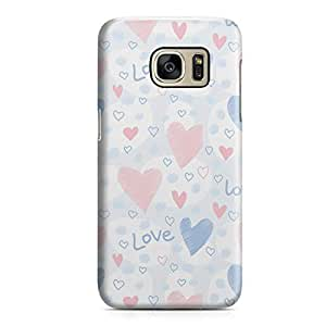 Samsung S7 Case Pretty Heart Love Pattern For Girls Valentine Sleek Low Profile Light Weight Clear Samsung S7 Cover Wrap Around 150
