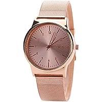 Creazy Fashion Womens Classic Gold Quartz Stainless Steel Wrist Watch (Rose Gold)