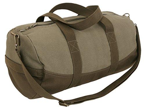 Rothco Two-Tone Canvas Duffle Bag With Brown Bottom by Rothco
